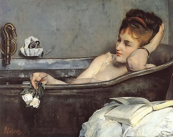 """""""женщина в ванной """"Альфред Стивенс 1867"""