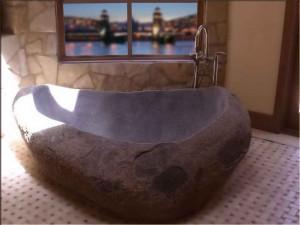 установить ванну из натурального камня
